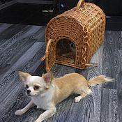 """Для домашних животных, ручной работы. Ярмарка Мастеров - ручная работа """"Кошкин дом"""" (собачкин) Плетеный домик-переноска. Handmade."""