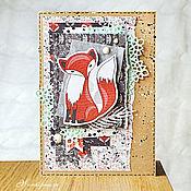 Открытки ручной работы. Ярмарка Мастеров - ручная работа Детская открытка - Рыжая лиса. Handmade.