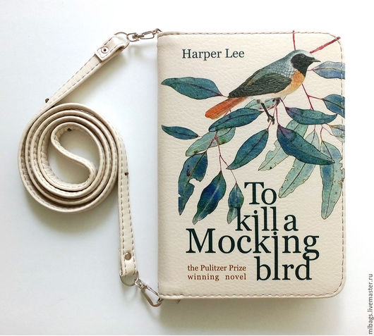 """Женские сумки ручной работы. Ярмарка Мастеров - ручная работа. Купить Клатч книга """"To kill a mocking bird"""" вариант 2. Handmade."""