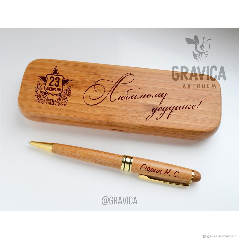 Ручка в деревянном футляре с гравировкой, Ручки, Нижний Новгород,  Фото №1