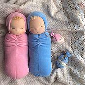 Куклы и игрушки ручной работы. Ярмарка Мастеров - ручная работа Сплюшки-близнецы. Handmade.