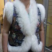 Одежда ручной работы. Ярмарка Мастеров - ручная работа Жилет из павлопосадских платков. Handmade.