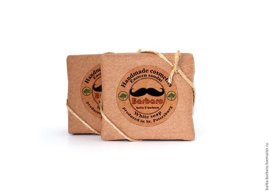Мыло-шампунь ручной работы. Ярмарка Мастеров - ручная работа. Купить Матирующее мыло для лица и бороды White soap Barbaro. Handmade.