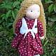Вальдорфская игрушка ручной работы. Заказать Варенька, вальдорфская кукла 36 см.. Кукольная мастерская DollGarden. Ярмарка Мастеров.