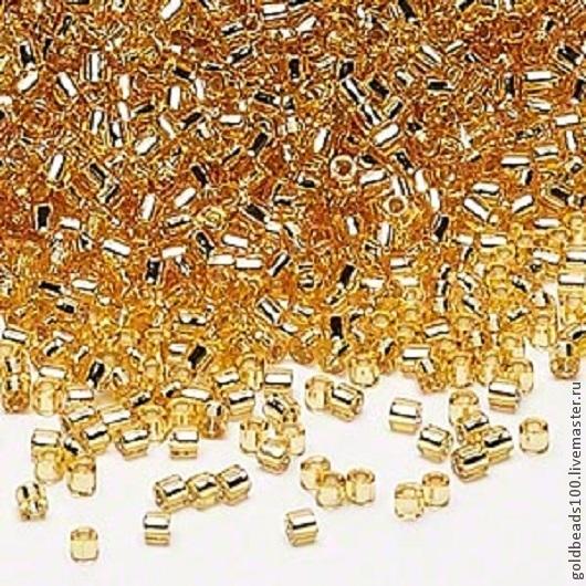 Для украшений ручной работы. Ярмарка Мастеров - ручная работа. Купить MIYUKI DELICA 8/0 DBL42 silver-lined gold. Handmade.