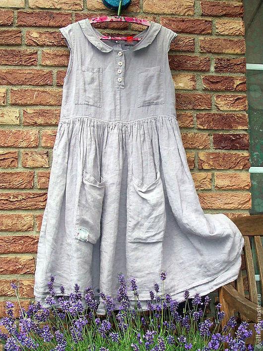 Платья ручной работы. Ярмарка Мастеров - ручная работа. Купить Ностальгия по лавандовым полям, любой размер. Handmade. Серый
