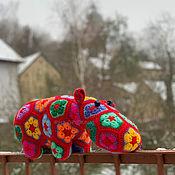 Куклы и игрушки handmade. Livemaster - original item Toy Hippo Strawberry. Handmade.