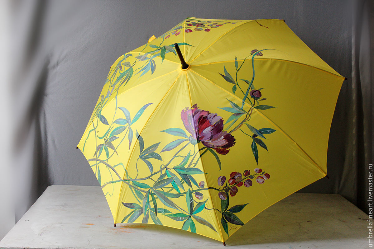 Painted parasol Saint Petersburg painting umbrellas custom