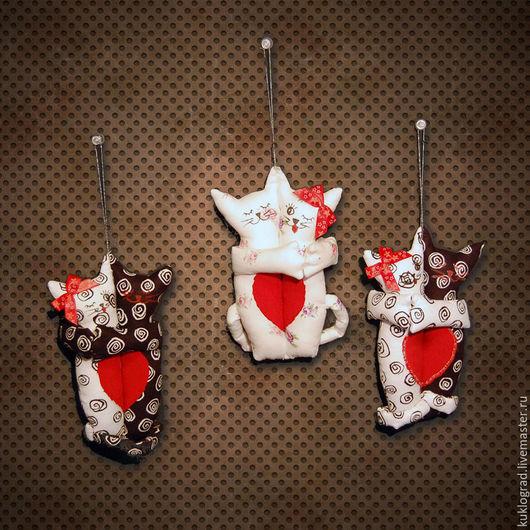Игрушки животные, ручной работы. Ярмарка Мастеров - ручная работа. Купить Влюбленные Котята в стиле Тильда.. Handmade. Комбинированный, синтепух