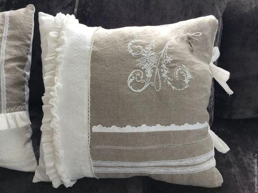 Текстиль, ковры ручной работы. Ярмарка Мастеров - ручная работа. Купить Подушки в стиле Прованс. Handmade. Белый, вышивка машинная