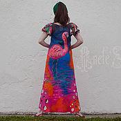 Одежда ручной работы. Ярмарка Мастеров - ручная работа Платье Фламинго 17032. Handmade.