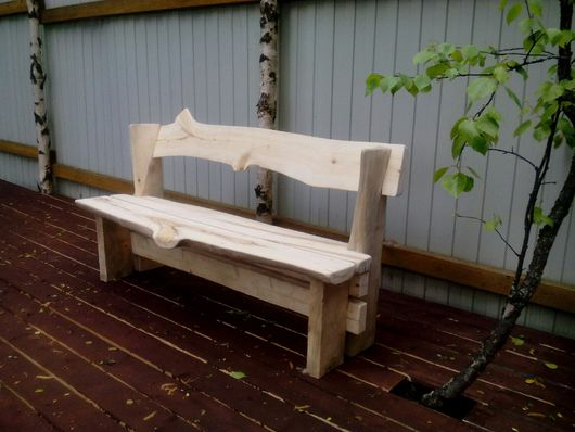 Мебель ручной работы. Ярмарка Мастеров - ручная работа. Купить Скамья из масива. Handmade. Лимонный, авторская ручная работа, дерево