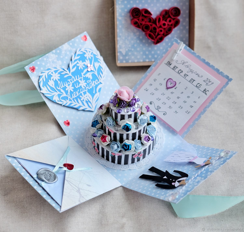 Открытки на все случаи жизни ручной работы. Ярмарка Мастеров - ручная работа. Купить Magic box коробочка на свадьбу. Handmade.