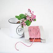 "Материалы для творчества ручной работы. Ярмарка Мастеров - ручная работа Хлопковый шнур ""Яблочная пудра"", 2 мм, 2 цвета. Handmade."