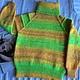 """Одежда для девочек, ручной работы. Заказать Свитер """"Попугайчик"""". LeLe (FilimonovaElena). Ярмарка Мастеров. Для детей, свитер вязаный, ярко"""