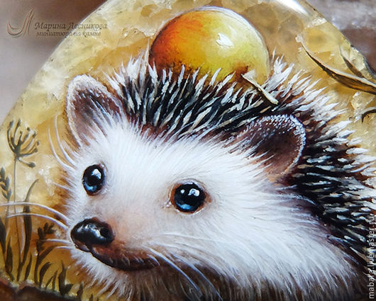 Кулон `Ёжик с яблоком` Милашка Ёжик на симбирците - обеспечит улыбкой и хорошим настроением на весь день!!