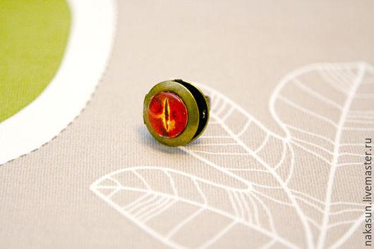 Кольца ручной работы. Ярмарка Мастеров - ручная работа. Купить Кольцо медальон Око Саурона. Handmade. Разноцветный, Властелин колец