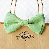 Аксессуары ручной работы. Ярмарка Мастеров - ручная работа Зелено-желтая травяная бабочка. Handmade.