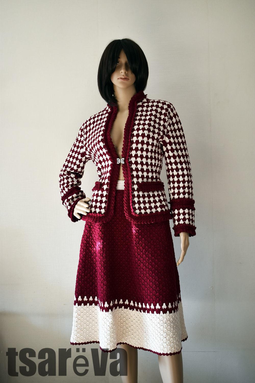 Handmade Tweed suit. Hook, cotton, Suits, Odessa,  Фото №1
