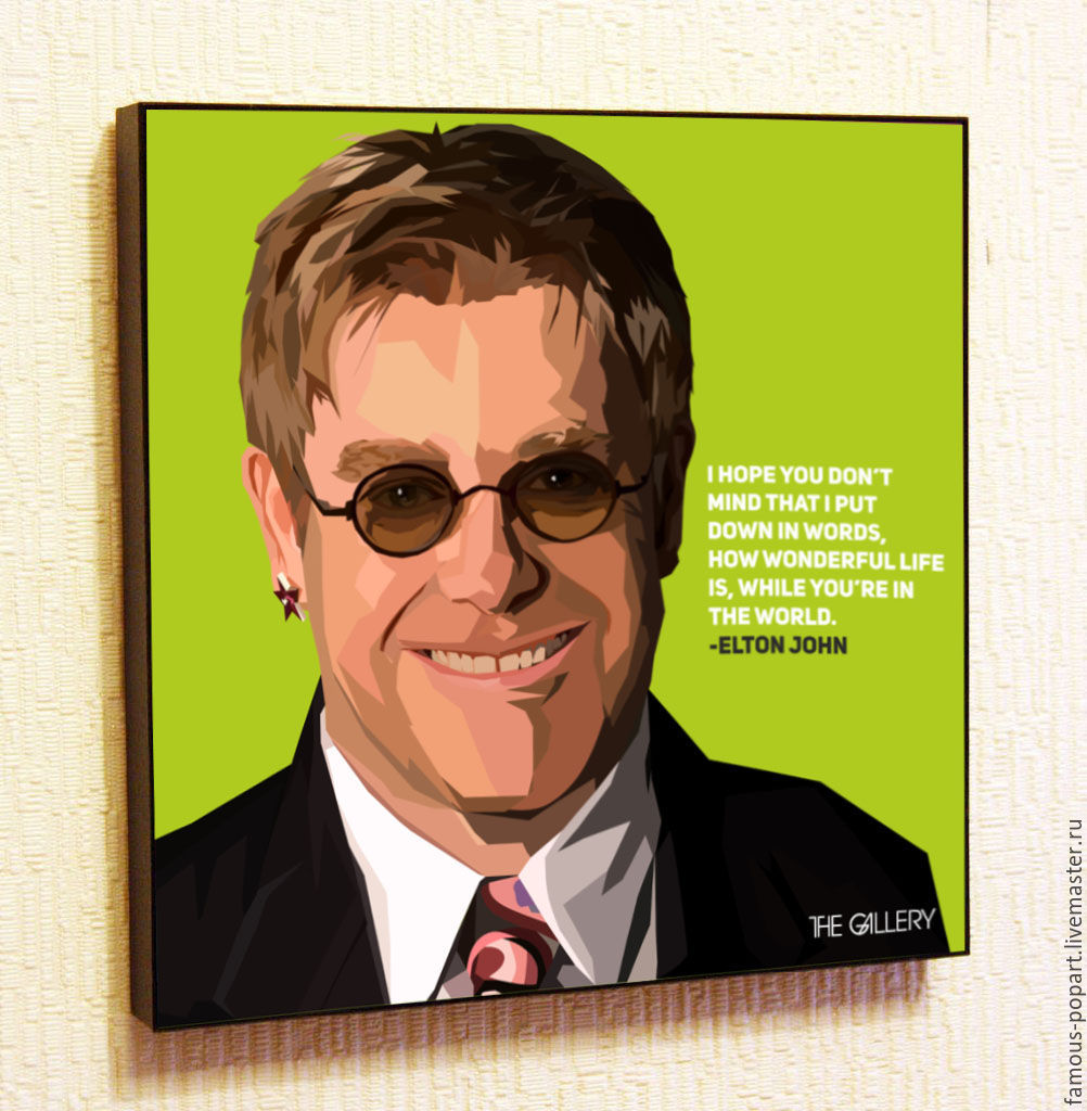 Picture poster Elton John Pop Art, Pictures, Moscow,  Фото №1