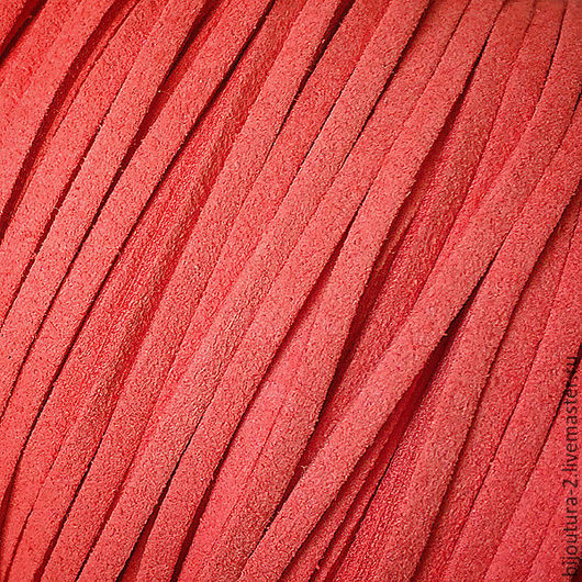 Для украшений ручной работы. Ярмарка Мастеров - ручная работа. Купить Шнур 3 мм,  (арт.з5) искусственная замша, цвет коралловый. Handmade.
