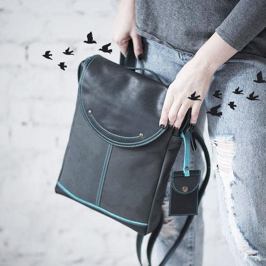 """Рюкзаки ручной работы. Ярмарка Мастеров - ручная работа. Купить Рюкзак женский """"Grafito"""". Handmade. Темно-серый, стильный рюкзак"""
