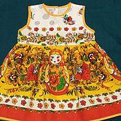 """Работы для детей, ручной работы. Ярмарка Мастеров - ручная работа Платье """"Матрешки"""". Handmade."""