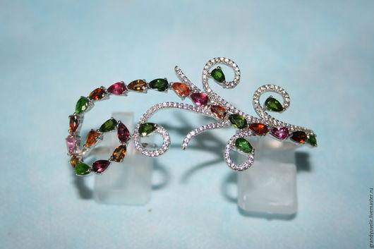 Кольца ручной работы. Ярмарка Мастеров - ручная работа. Купить Цветные сны, браслет для пальцев, серебро 925 пробы. Handmade.