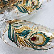 Посуда handmade. Livemaster - original item Wedding set Bird of happiness. Handmade.