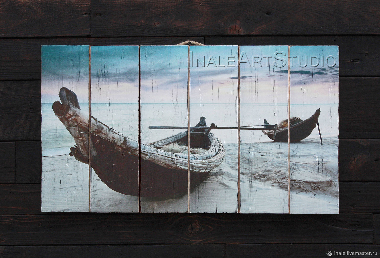Photo Pictures handmade. Livemaster - handmade. Buy La pintura en los tablones de 'piragüismo'.