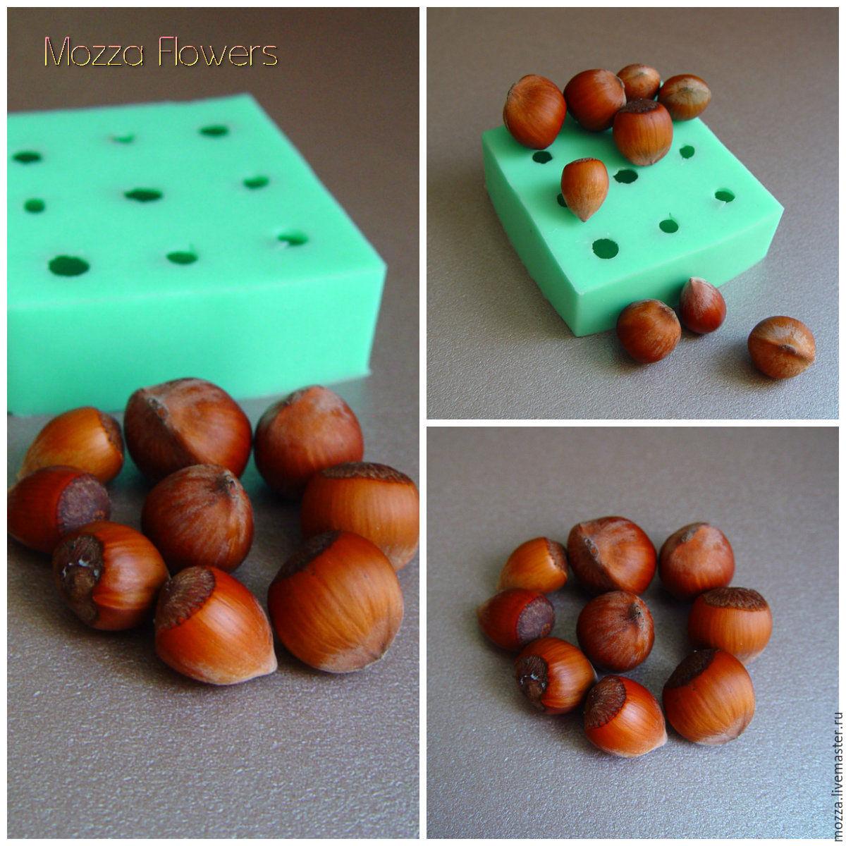 'Hazelnut ' Silicone mold , Molds for making flowers, Zarechny,  Фото №1