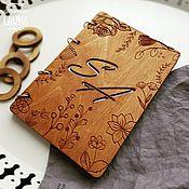 Блокноты ручной работы. Ярмарка Мастеров - ручная работа Деревянный ЭКО блокнот именной. Handmade.