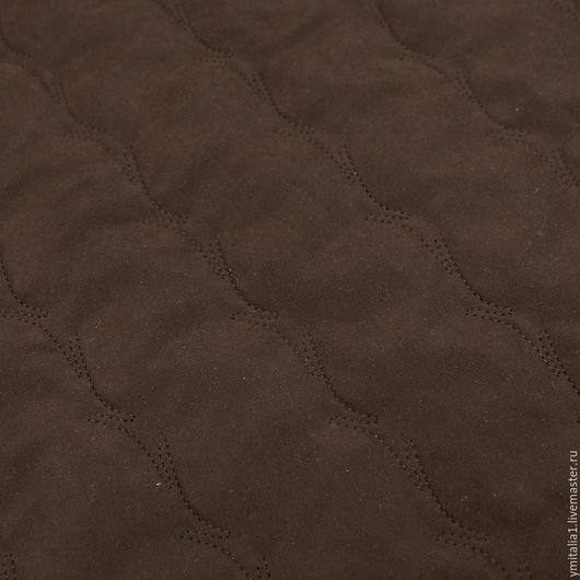 Шитье ручной работы. Ярмарка Мастеров - ручная работа. Купить Курточная стеганая  ткань коричневая  PRADA. Handmade. Именная ткань