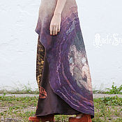 Одежда handmade. Livemaster - original item Felt dress with scirt 17024 Осенняя Италия. Handmade.