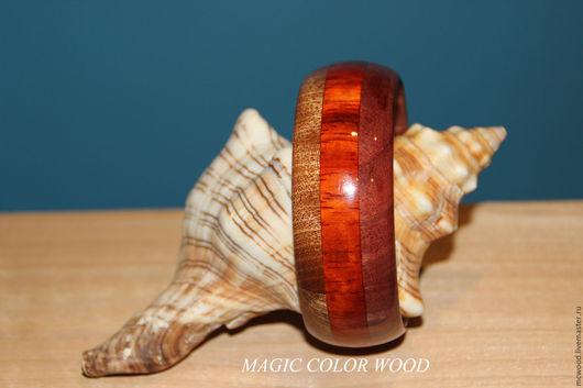 """Браслеты ручной работы. Ярмарка Мастеров - ручная работа. Купить Браслет деревянный """"3 цвета радуги"""". Handmade. Комбинированный"""