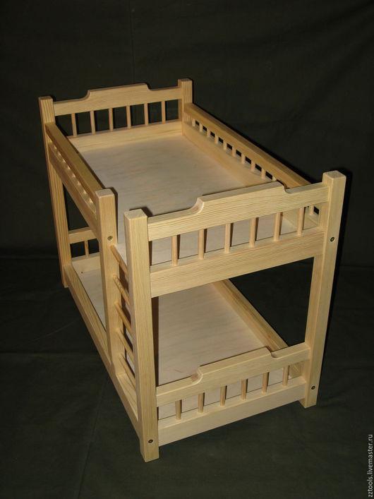 Кукольный дом ручной работы. Ярмарка Мастеров - ручная работа. Купить Кроватка двухъярусная для кукол №2. Handmade. Кроватка двухъярусная