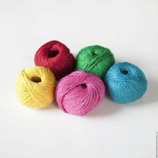 Шитье ручной работы. Ярмарка Мастеров - ручная работа. Купить Джутовая нить, 5 цветов. Handmade. Бежевый, материалы для творчества