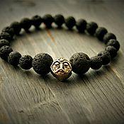 Украшения handmade. Livemaster - original item Bracelet ` natural lava and bronze. Handmade.