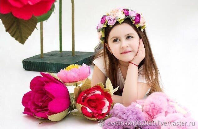 Диадемы, обручи ручной работы. Ярмарка Мастеров - ручная работа. Купить Ободок из фоамирана, ободок из цветов, ободок с цветами. Handmade.
