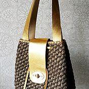"""Классическая сумка ручной работы. Ярмарка Мастеров - ручная работа Женская сумка """" Злата"""". Handmade."""