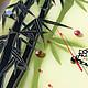 """Часы для дома ручной работы. Заказать Часы+панно """"Бамбуковый рай"""". Лариса Beatriche. Ярмарка Мастеров. Витражная роспись, авторские подарки"""