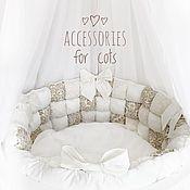 Работы для детей, handmade. Livemaster - original item Bumpers in the crib. Handmade.