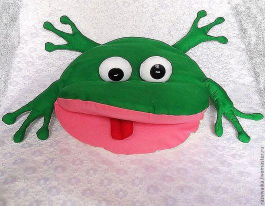 Детская ручной работы. Ярмарка Мастеров - ручная работа. Купить Лягушка. подушка игрушка ( декоративная подушечка зеленый подушки). Handmade.