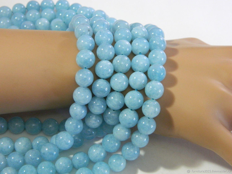 Aquamarine 10 mm for jewelry. pc, Beads1, Saratov,  Фото №1