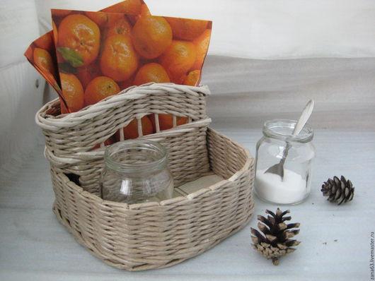 """Кухня ручной работы. Ярмарка Мастеров - ручная работа. Купить Корзинка """"Соль+перец"""". Handmade. Серый, подарок женщине, водная морилка"""