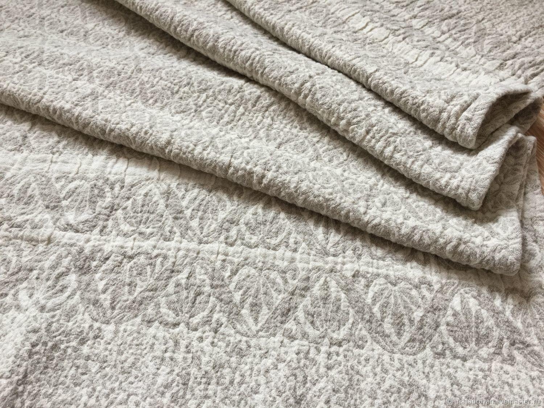 Home Textiles & Carpets handmade. Livemaster - handmade. Buy Towel washed linen ' Gray jacquard'.Home