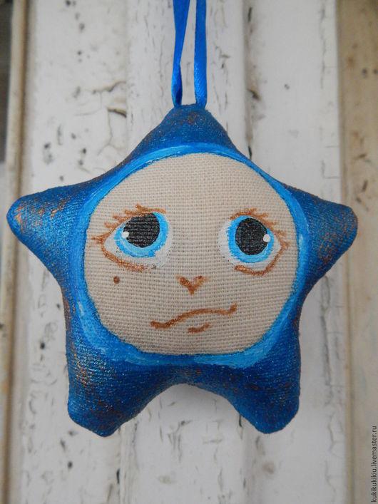 Сказочные персонажи ручной работы. Ярмарка Мастеров - ручная работа. Купить Новогодняя звезда. Handmade. Тёмно-синий, звезда на елку