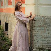Одежда handmade. Livemaster - original item Dress linen,