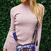 Одежда ручной работы. Ярмарка Мастеров - ручная работа Крутой кашемировый костюм розовая пудра. Handmade.