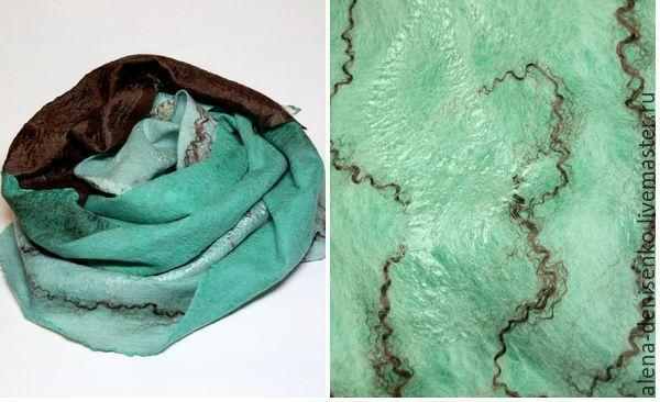 scarf felted Happy, Scarves, Barnaul,  Фото №1